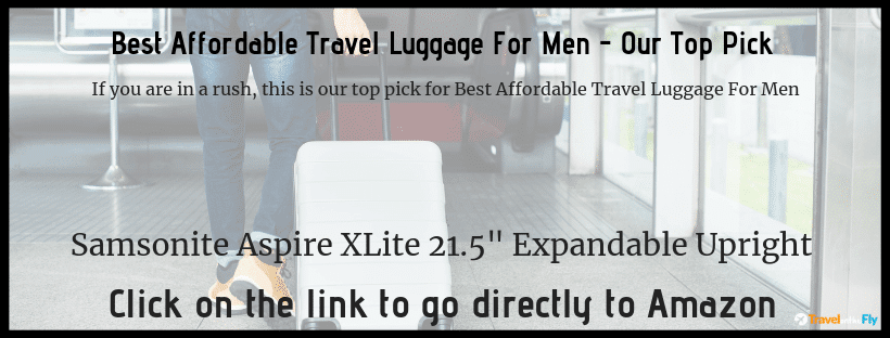 Best Affordable Travel Luggage For Men Reviews 2019