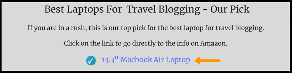 best laptop for travel blogging